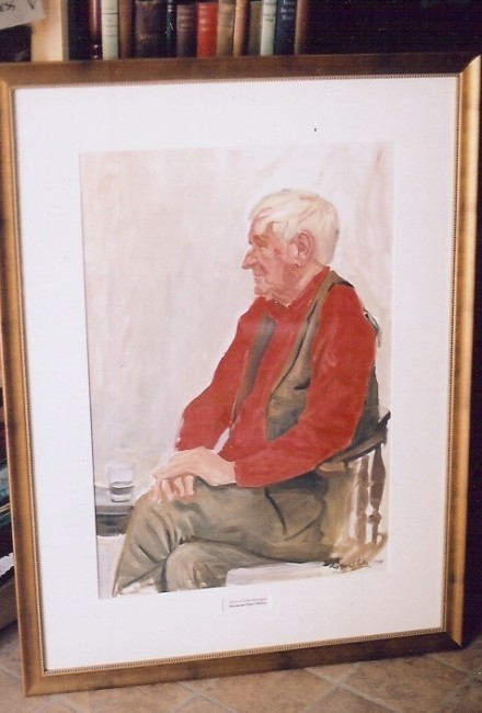 John Montague original portrait signed & dated