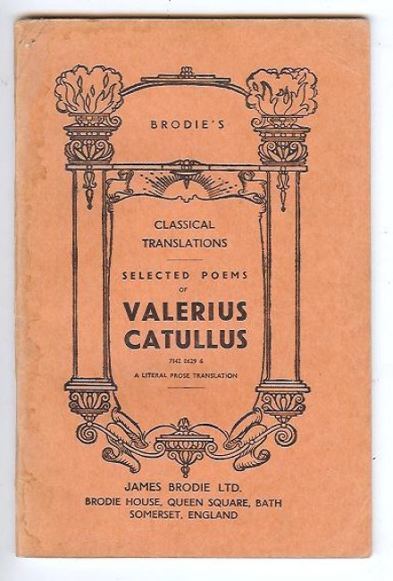 Selected Poems of Valerius Catullus.
