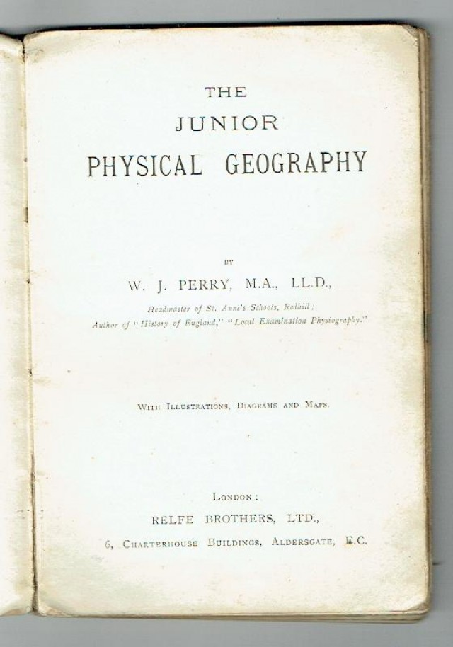 Johns Bookshop The Junior Physical Geography